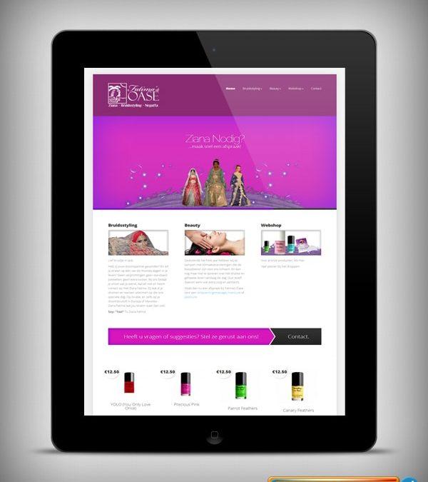"""Webdesign :: 0056 :: """"Fatima's Oase"""""""