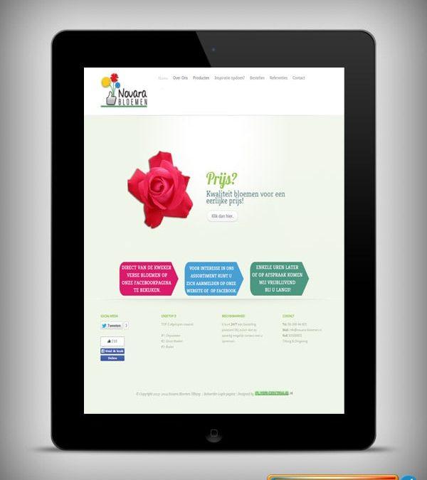 """Webdesign :: 0053 :: """"Nouara Bloemen"""""""
